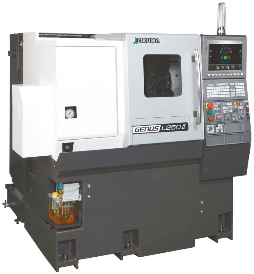 OKUMA 1-Saddle CNC Lathes GENOS LII Series